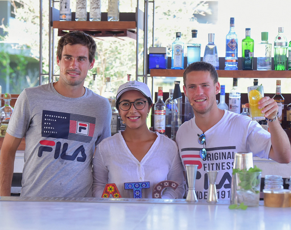 Mocktail Challenge between Diego Schwartzman and Guido Pella